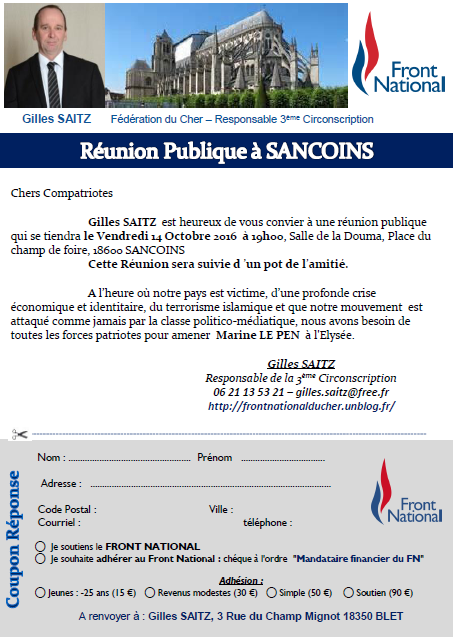 reunion publique sancoins
